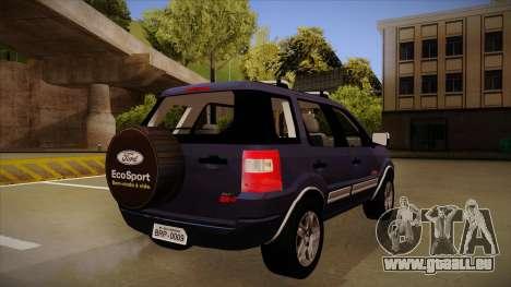 Ford Ecosport FreeStyle 2007 pour GTA San Andreas vue de droite