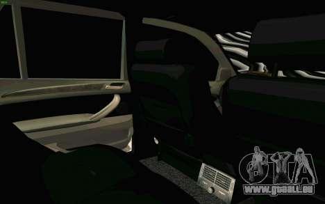 BMW X5 pour GTA San Andreas vue de dessous