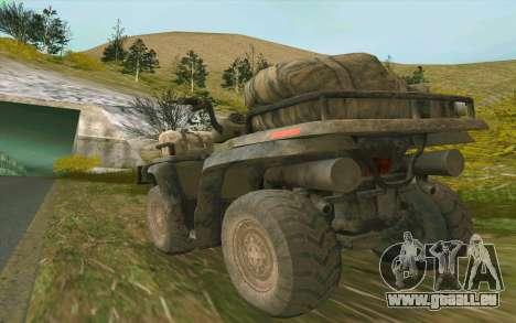 ATV der Medal Of Honor für GTA San Andreas rechten Ansicht