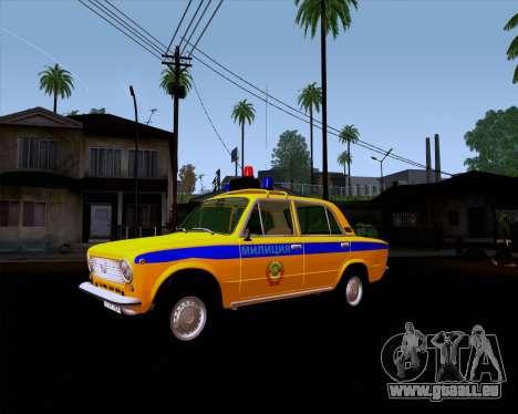VAZ 21011 Police pour GTA San Andreas vue arrière