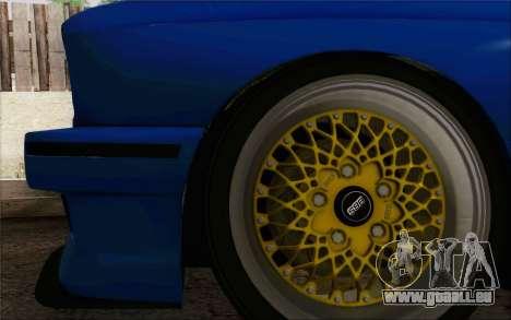 BMW M3 E30 Stance pour GTA San Andreas vue intérieure