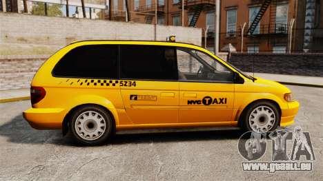 Dodge Grand Caravan 2005 Taxi NYC pour GTA 4 est une gauche