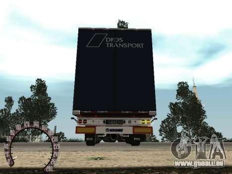 Remorque pour Kamaz 54115 pour GTA San Andreas vue de droite