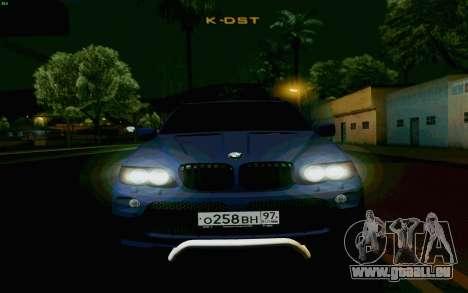 BMW X5 pour GTA San Andreas vue intérieure