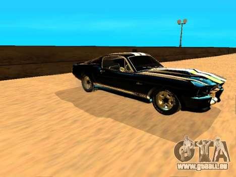 Ford Shelby GT-500E Eleanor für GTA San Andreas zurück linke Ansicht