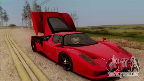 Ferrari Enzo 2002 pour GTA San Andreas vue de dessus