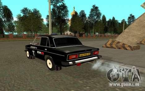 VAZ 2106 Taxi pour GTA San Andreas sur la vue arrière gauche
