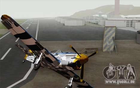 Idéalement en camouflage hiver pour GTA San Andreas vue de droite
