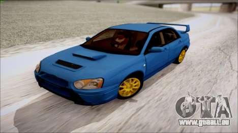 Subaru Impreza WRX STI für GTA San Andreas rechten Ansicht