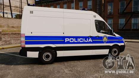 Mercedes-Benz Sprinter Croatian Police v2 [ELS] pour GTA 4 est une gauche