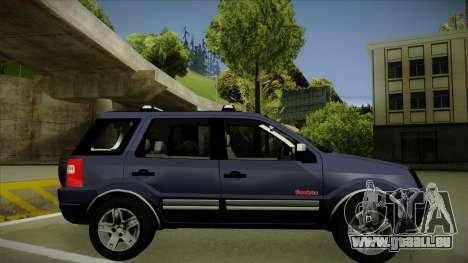 Ford Ecosport FreeStyle 2007 pour GTA San Andreas sur la vue arrière gauche