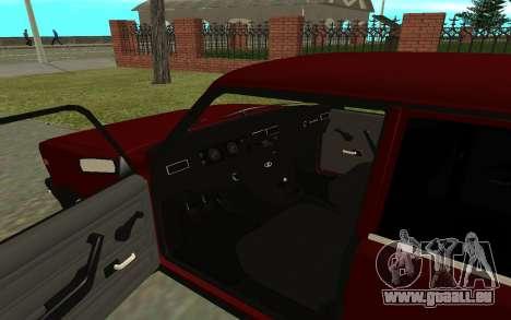 VAZ 2107 für GTA San Andreas Rückansicht