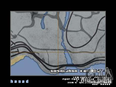 Carte dans le style de GTA 5 pour GTA San Andreas onzième écran