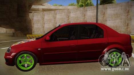 Dacia Logan Hellaflush für GTA San Andreas zurück linke Ansicht