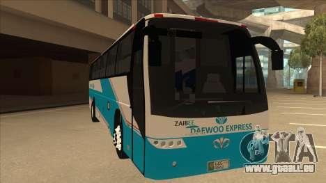 Zaibee Daewoo Express Coach pour GTA San Andreas laissé vue