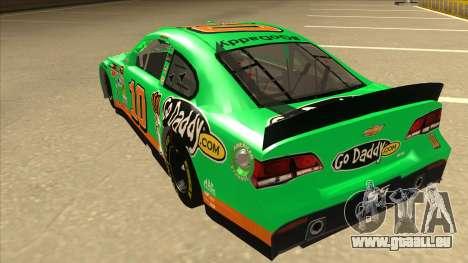 Chevrolet SS NASCAR No. 10 Go Daddy für GTA San Andreas Rückansicht