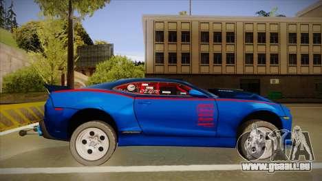 Chevrolet Camaro ZL1 Elite pour GTA San Andreas sur la vue arrière gauche