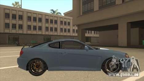 Hyundai Coupe V6 Soft Tuned v1 pour GTA San Andreas sur la vue arrière gauche