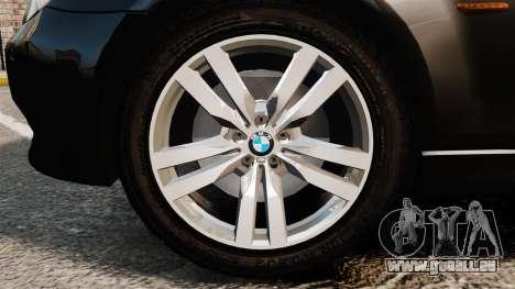 BMW M5 E60 Metropolitan Police Unmarked [ELS] pour GTA 4 Vue arrière