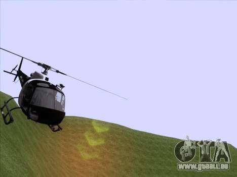 Police Maverick GTA 5 pour GTA San Andreas sur la vue arrière gauche