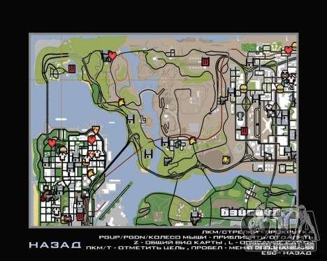 Tour en hélicoptère de San Fierro pour GTA San Andreas deuxième écran