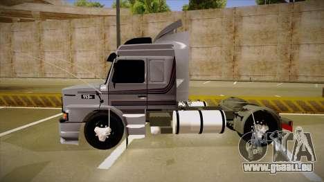 Scania 113H Top Line Neee Edit pour GTA San Andreas sur la vue arrière gauche