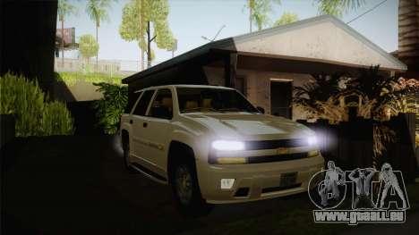 Chevrolet Trail Blazer für GTA San Andreas Rückansicht