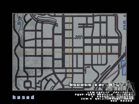 Carte dans le style de GTA 5 pour GTA San Andreas huitième écran