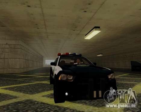Dodge Charger 2012 Police IVF für GTA San Andreas Rückansicht