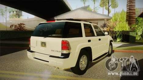 Chevrolet Trail Blazer pour GTA San Andreas vue de droite