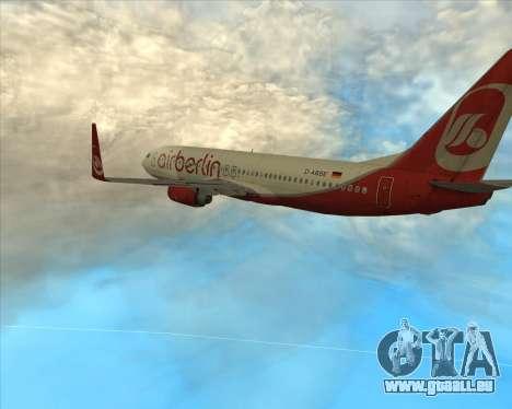 Boeing 737-800 für GTA San Andreas zurück linke Ansicht