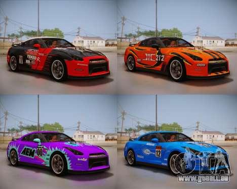 Nissan GT-R Egoist v2 pour GTA San Andreas vue arrière