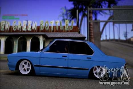 BMW 535I E28 pour GTA San Andreas laissé vue