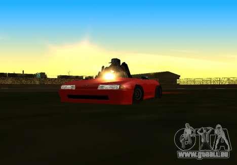 Baby Elegy v1 by Gh0ST pour GTA San Andreas sur la vue arrière gauche