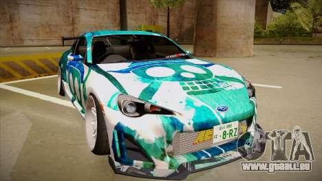 Subaru BRZ pour GTA San Andreas laissé vue
