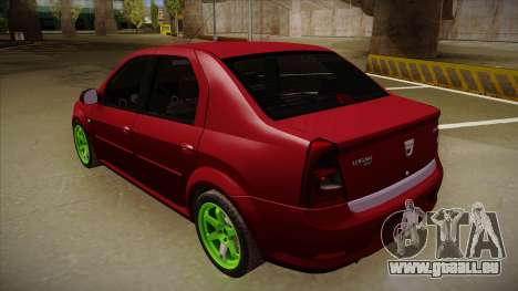 Dacia Logan Hellaflush pour GTA San Andreas vue de droite