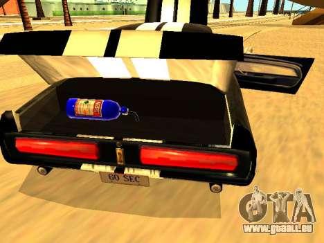 Ford Shelby GT-500E Eleanor für GTA San Andreas Innenansicht