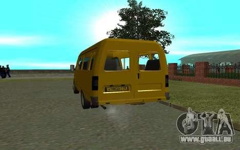 Gazelle 3221 pour GTA San Andreas sur la vue arrière gauche