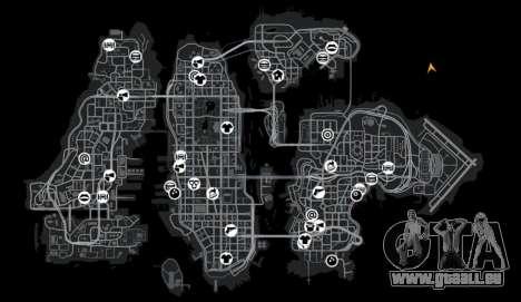 Lage von Okutama FZC für GTA 4 Zehntel Screenshot