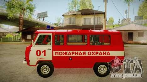 Siège de UAZ 452 incendie pour GTA San Andreas laissé vue