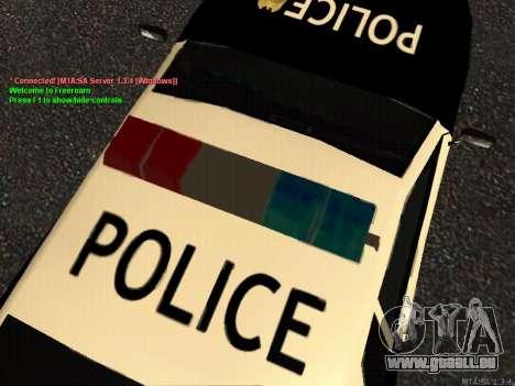 Elegy Police pour GTA San Andreas laissé vue