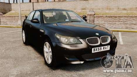 BMW M5 E60 Metropolitan Police Unmarked [ELS] pour GTA 4