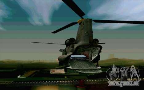 MH-47 für GTA San Andreas Seitenansicht