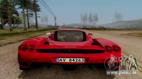 Ferrari Enzo 2002 für GTA San Andreas Innenansicht