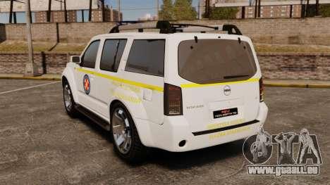 Nissan Pathfinder HGSS [ELS] pour GTA 4 Vue arrière de la gauche