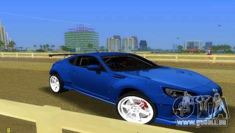 Subaru BRZ Type 5 pour GTA Vice City sur la vue arrière gauche