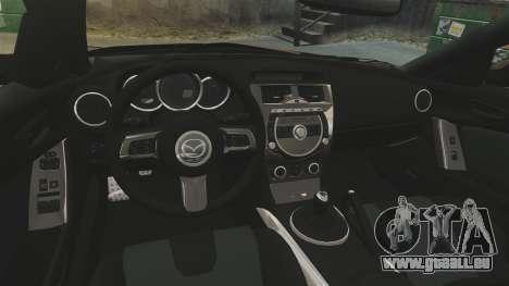 Mazda RX-8 R3 2011 Police pour GTA 4 est une vue de l'intérieur
