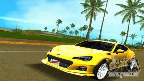 Subaru BRZ Type 5 pour GTA Vice City