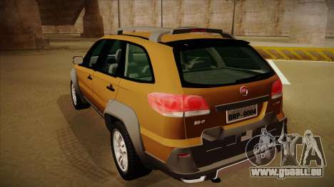 FIAT Palio Weekend Adventure Locker 2010 pour GTA San Andreas vue de droite