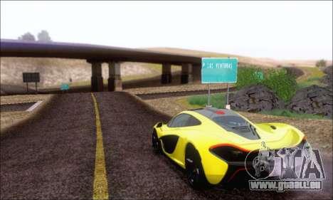 McLaren P1 EPM pour GTA San Andreas vue intérieure
